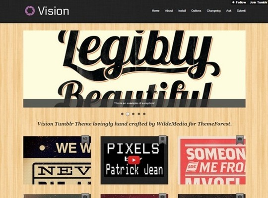 vision tumblr theme