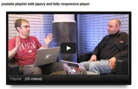 query responsive youtube playlist for wordpress