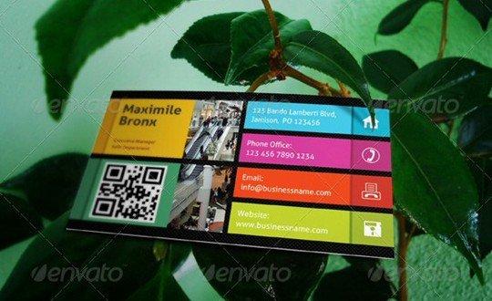 business card mock-up v06
