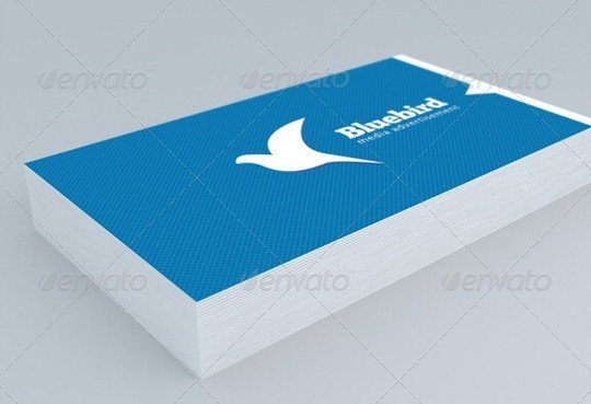realistic business card mock up