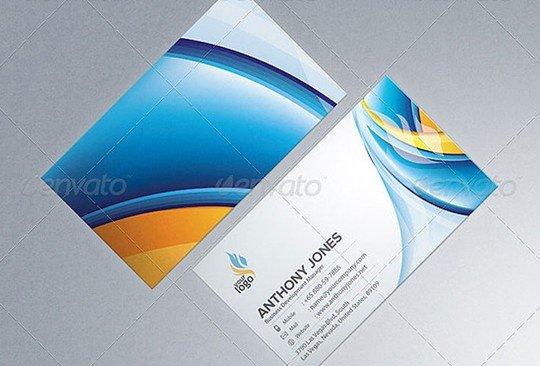 photorealistic business card mockup template
