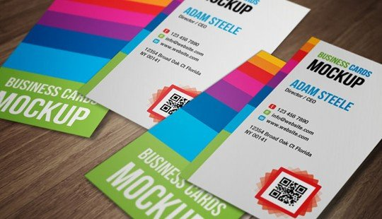 vertical business card mockups (free)