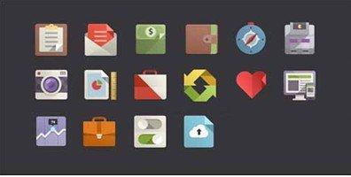 16 flat design icons set vol2