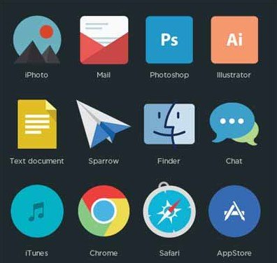 16 free flat program icons