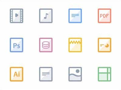 free flat files icons
