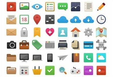 48 flat icons