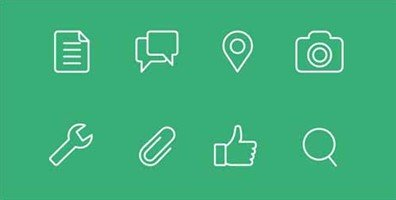 48 free flat line icons for web and ui designs