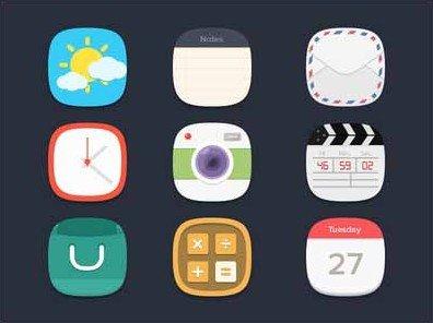 flat icons freebie - seevi kargwal