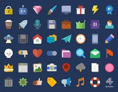 47 free flat icons