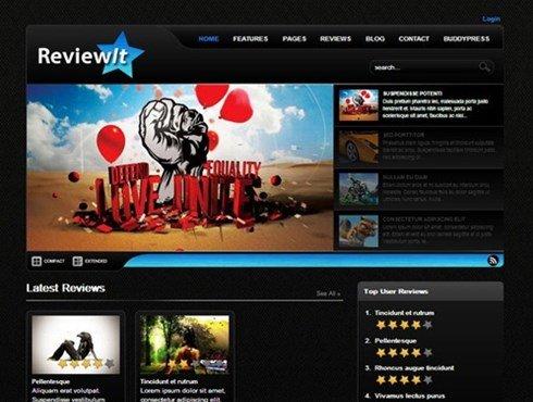 reviewit: review wordpress & buddypress theme