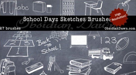 school dayz sketches brushes