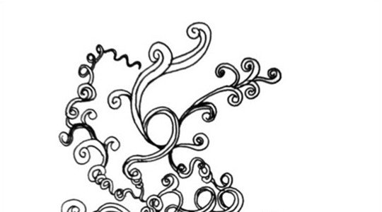 hand drawn swirl brush