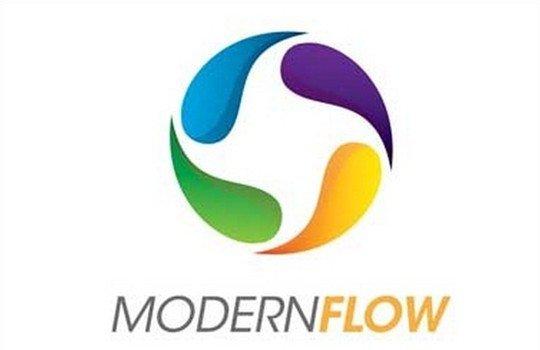 modern flow logo - logo psd file