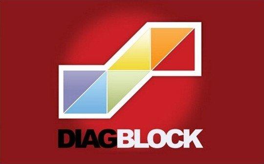 diagblock - diagonal block - logo psd file