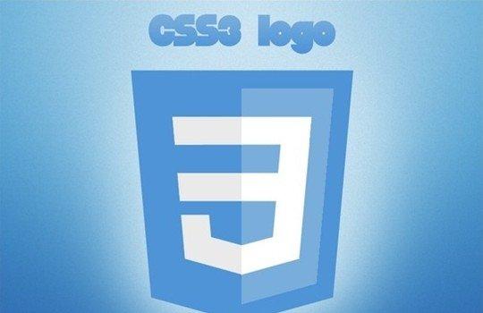 css3 logo - logo psd file