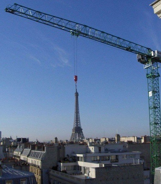 eiffel tower crane