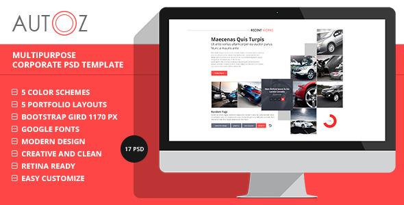 autoz - multipurpose corporate psd template