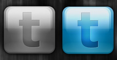 glossy twitter button