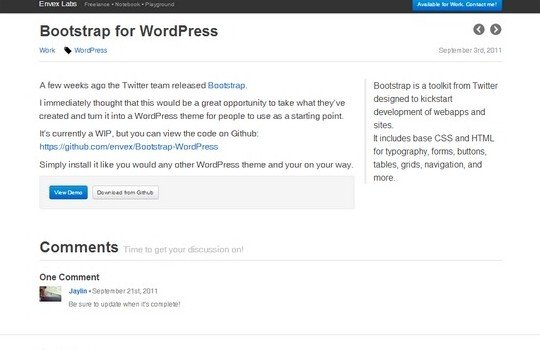 Bootstrap for WordPress