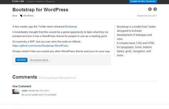 Bootstrap for WordPress