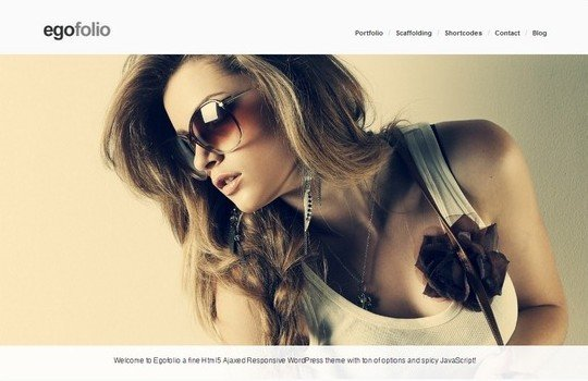 Egofolio: History Ajaxed Reponsive WordPress Theme