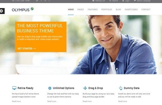 Olympus – Responsive Multi-Purpose WordPress Theme