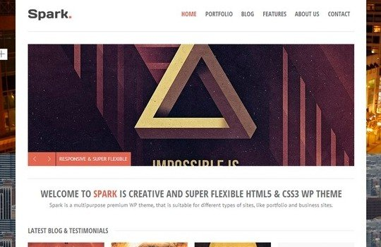 Spark Responsive Multi-Purpose WP Theme