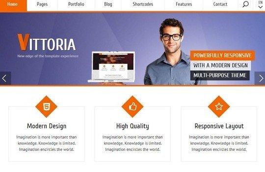 Vittoria | Retina Responsive WordPress Theme