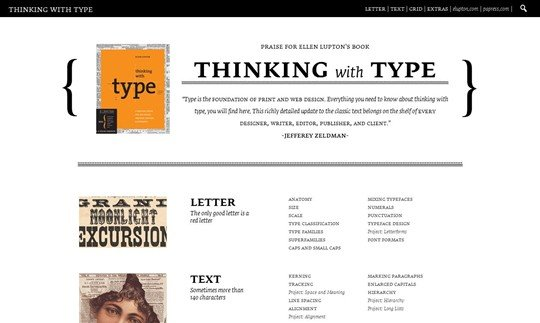 thinking with type | home