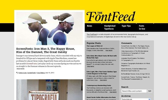 the fontfeed | fonts, typography, lettering, design