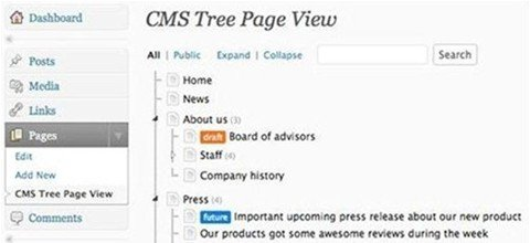 cms tree page view (FREE)