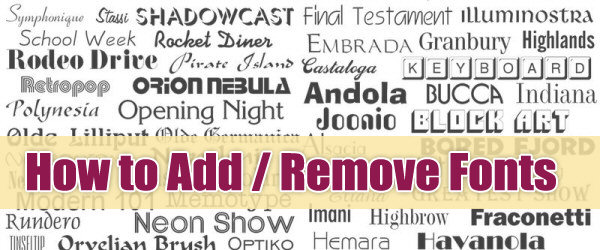 How to Add or Remove Classic Fonts in Mac OS X