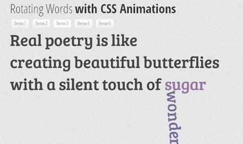 rotating words with css animations