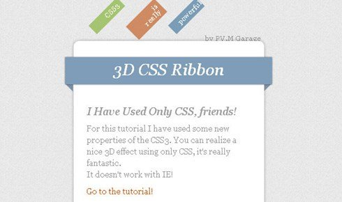 create 3d ribbons only using css3