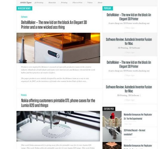 News Based Website Template