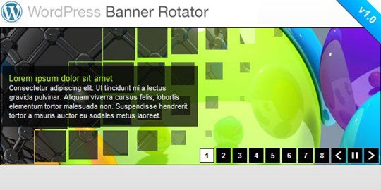 wordpress banner rotator / slideshow plugin