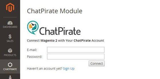 magento 2 chatpirate account