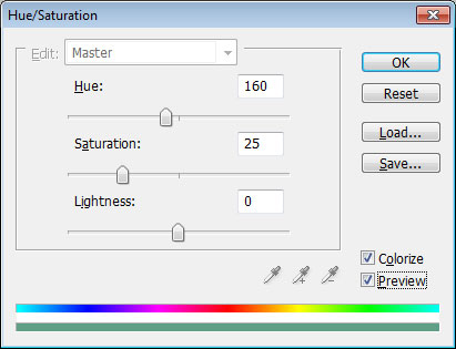 adjust hue saturation - photoshop tutorial