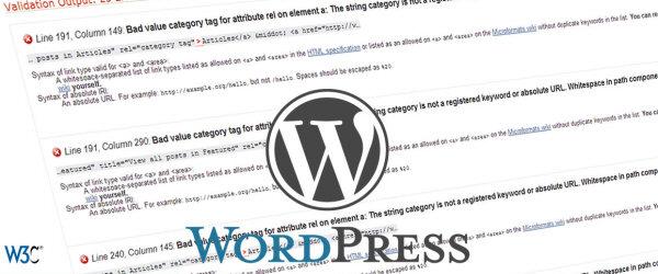 Validating WordPress Website