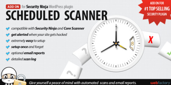 Scheduled Scanner Add on for Security Ninja