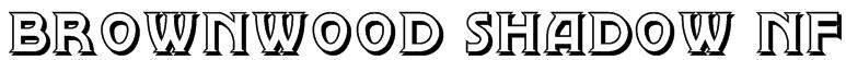 Brownwood Shadow NF Font
