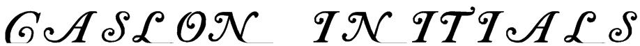 Caslon Initials Font