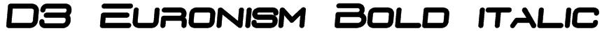 D3 Euronism Bold italic Font