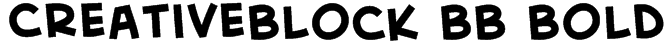 CreativeBlock BB Bold Font