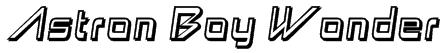Astron Boy Wonder Font