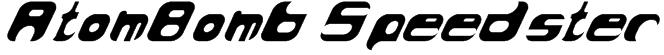 AtomBomb Speedster Font