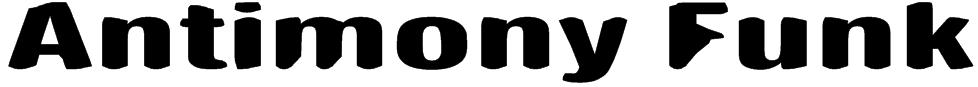 Antimony Funk Font