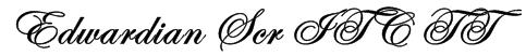 Edwardian Scr ITC TT Font