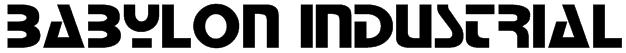 Babylon Industrial Font