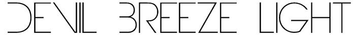 Devil Breeze Light Font
